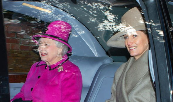 The Queen often invites Sophie to share her car on her way to church