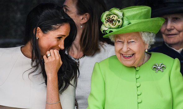 Meghan and the Queen during a joint engagement in 2018