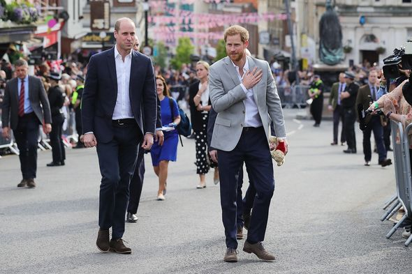 Harry and William walking