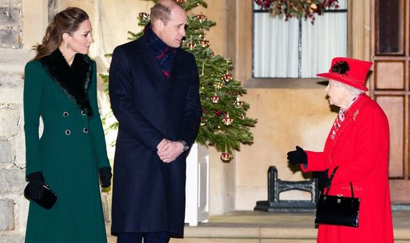 Kate and William and the Queen