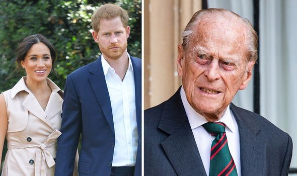 Meghan Markle, Prince Harry and Prince Philip