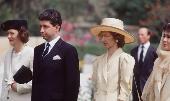 Patrick Jephson with Viscountess Sarah Jane Campden in Egypt