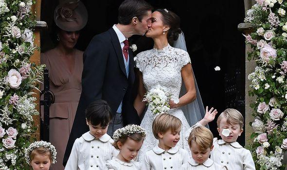Pippa Middleton on her wedding day in 2017