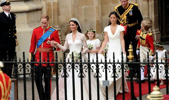 Pippa Middleton with Kate on her wedding day