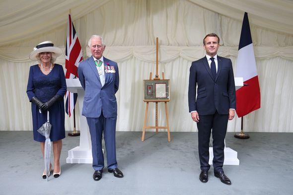 Prince Charles and Emmanuel Macron