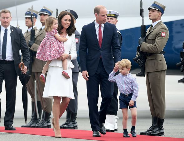 Prince William, Kate Middleton, Prince George and Princess Charlotte in Poland