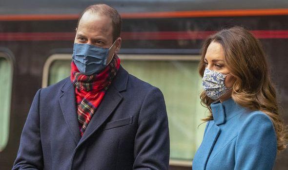 Prince William news: The Duke and Duchess of Cambridge in Edinburgh train station for their royal train tour