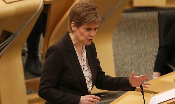Prince William news: Scottish First Minister, Nicola Sturgeon reacts as she delivers a statement at Holyrood, Edinburgh, announcing that Scotland will be placed in lockdown from midnight for the duration of January