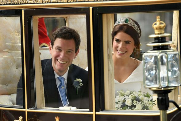 Princess Eugenie and Jack Brooksbanks at their wedding in 2018