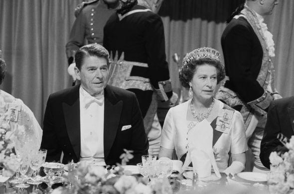 Queen news: The Queen and Ronald Raegan