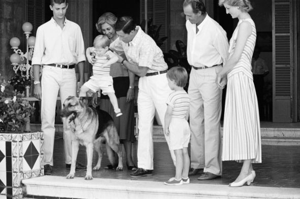 Royal history: Charles, Harry and Diana while guests of Spain's former King Juan Carlos, 1986