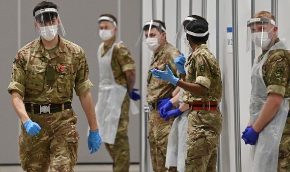 Royal news: The army was previously used at testing centres