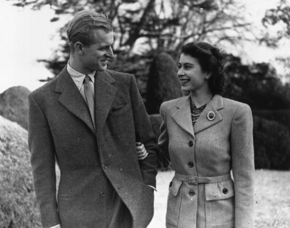 Royal romance: The pair have been married for 73 years