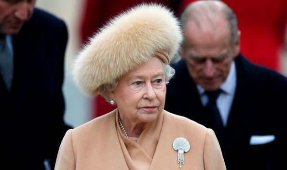 The Queen previously wore it to the unveiling of the Queen's Mother's statue