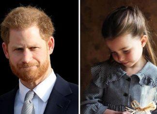 Prince Harry and his niece Princess Charlotte