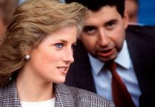 Princess Diana and her private secretary Patrick Jephson