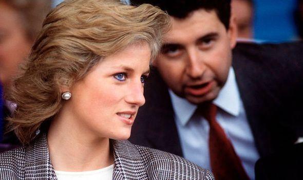 Princess Diana and her private secretary Patrick Jephson