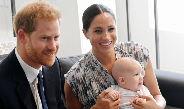 Harry, Meghan and Archie during a 2019 tour in Southern Africa