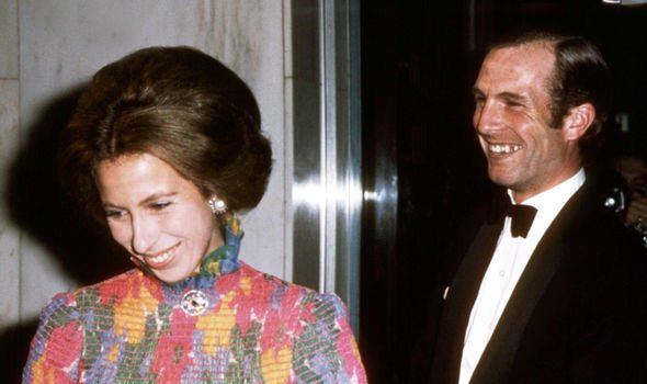 Princess Anne and her first husband Mark Phillips