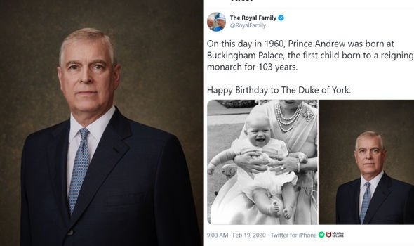 The Royal Family's post to mark Andrew's 60th birthday last year