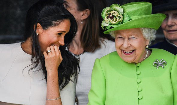 Meghan and the Queen showing their close bond together in 2018
