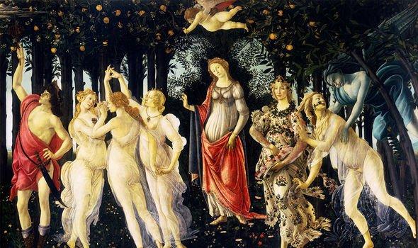 Botticelli's Primavera from the 15th Century