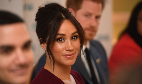 Meghan Markle pictured smiling at camera