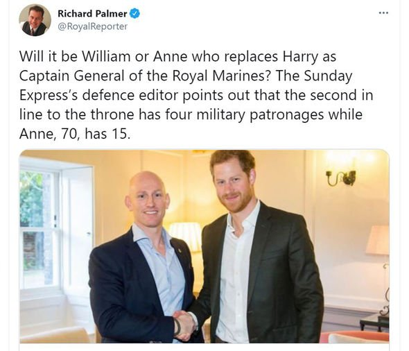 Prince Harry military titles replacement