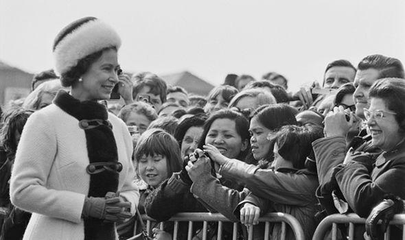 The Queen in 1973