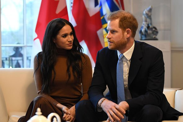 File photo dated 07/01/20 of The Duke and Duchess of Sussex during their visit to Canada House, central London