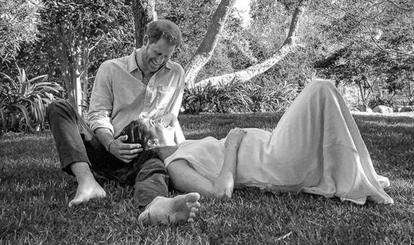 Royal Baby: Duke and Duchess of Sussex shared a black and white picture of themselves in their garden