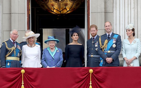 The Royals together on the Buckingham Palace balcony