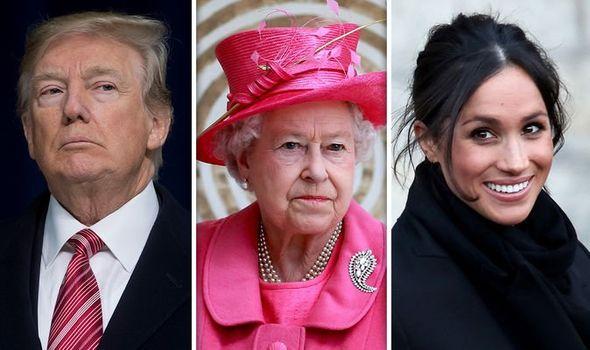 donald trump queen meghan markle