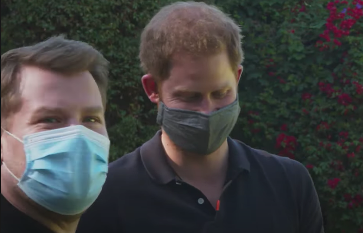 prince harry news - harry and james corden