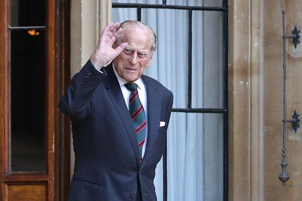 The Duke of Edinburgh at Windsor Castle arrives for a ceremony for the transfer of the Colonel-in-Chief of the Rifles from the Duke to the Duchess of Cornwall, who will conclude the ceremony from Highgrove House 22-Jul-2020
