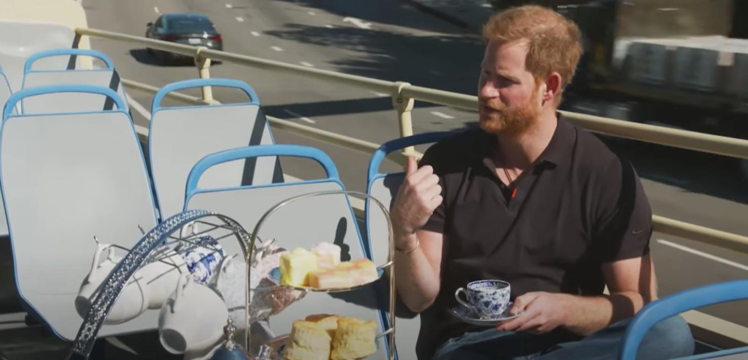 queen news prince harry drinking tea
