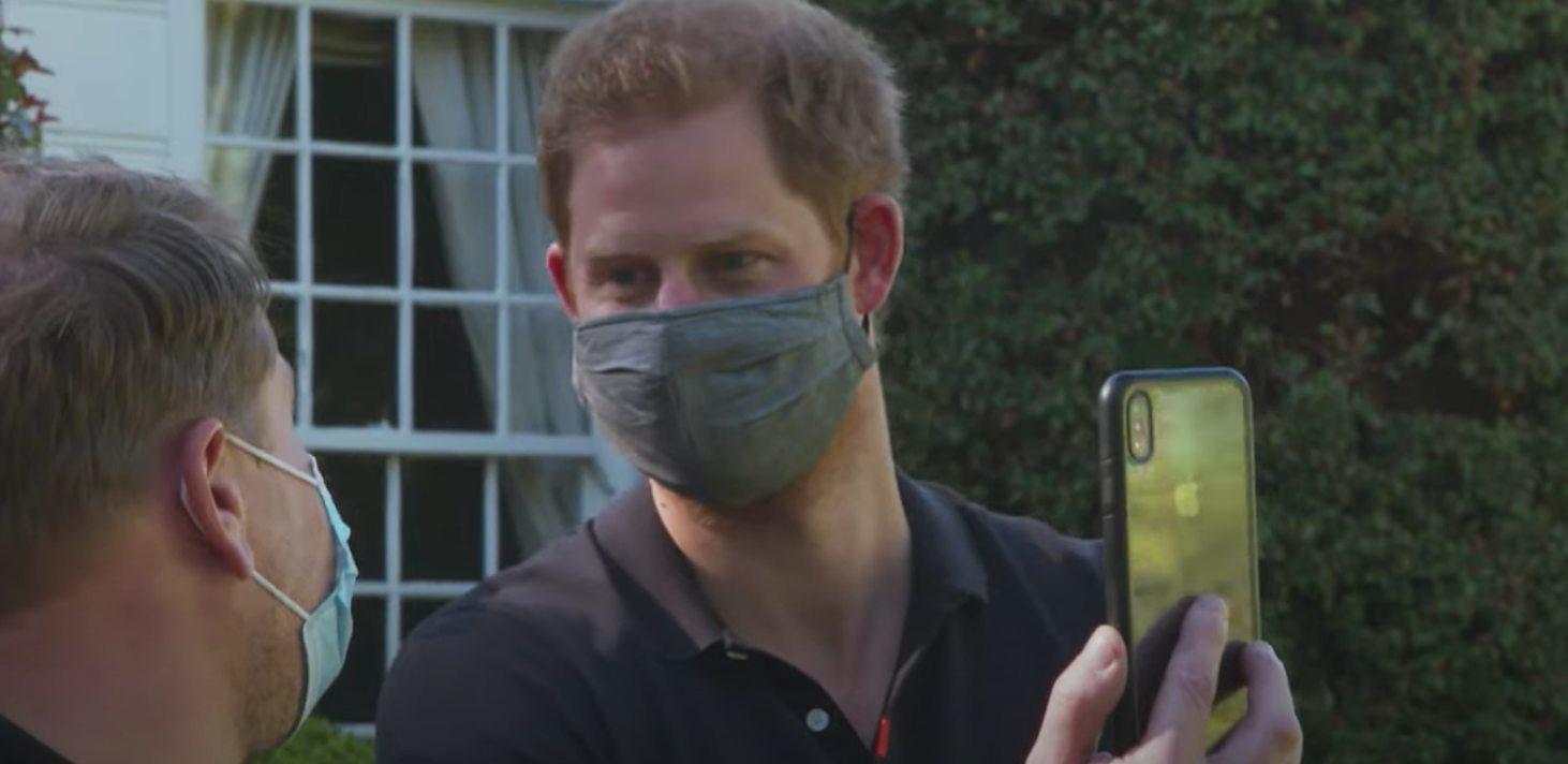 queen news - harry on a video call with meghan markle