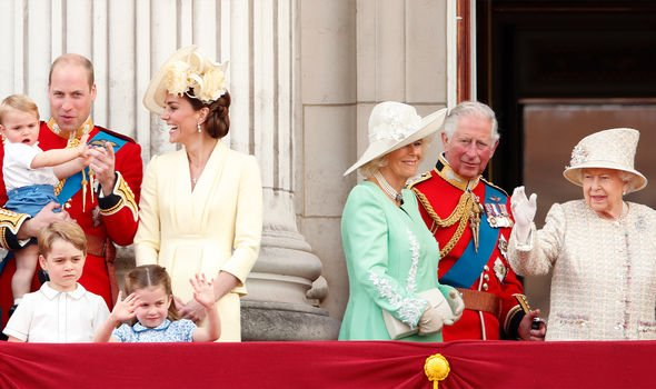 The Royal Family for Trooping the Colour 2019