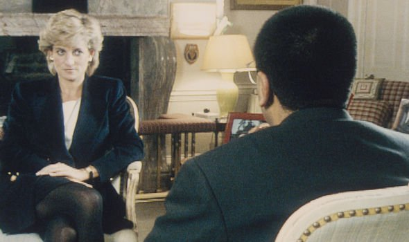 Diana speaking during her BBC Panorama interview