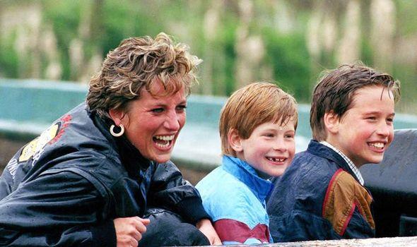 Princess Diana, Prince Harry and Prince William