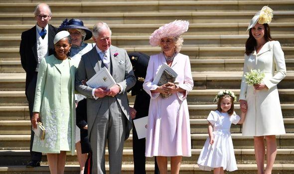 Doria Ragland alongside Prince Charles at Harry and Meghan's wedding