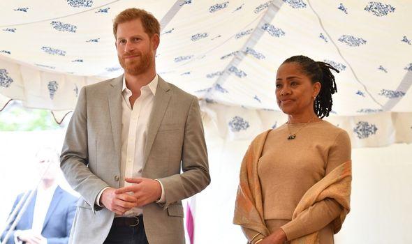 Doria Ragland with Prince Harry
