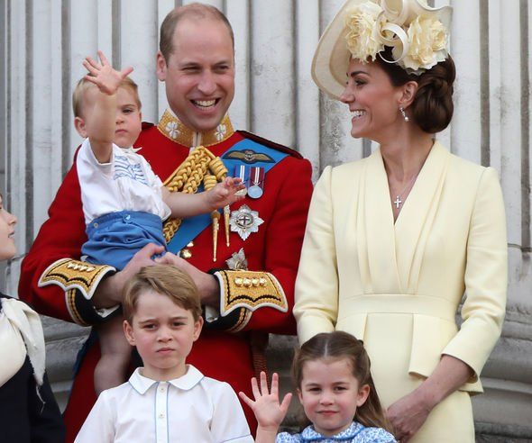 Duke and Duchess of Cambridge and their children