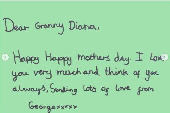 Prince George said he loved Diana