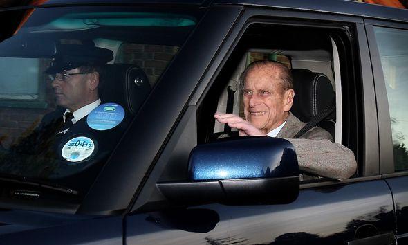 prince philip leaving hospital in 2011