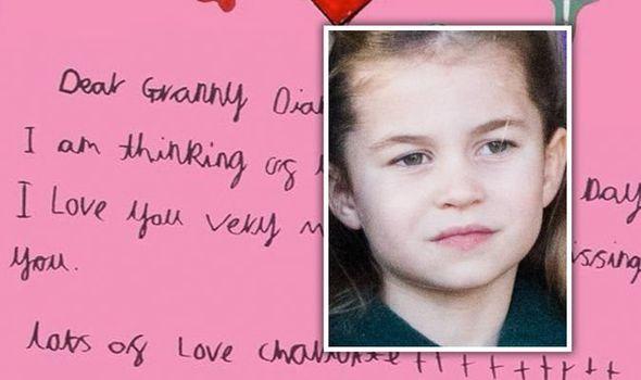 Princess Charlotte has written a heartbreaking note to Diana