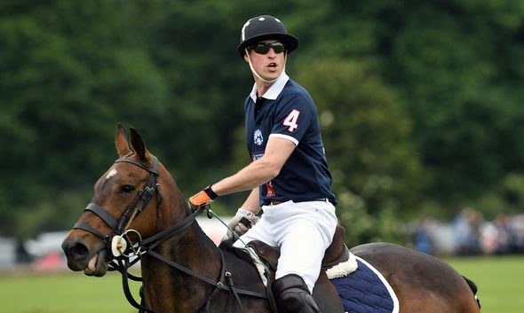 Prince William, Duke of Cambridge competes in the Maserati Charity Polo match during the Gloucestershire Festival of Polo at the Beaufort Polo Club on