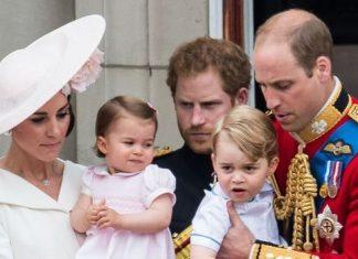 Princess Charlotte, Prince George and Prince Harry