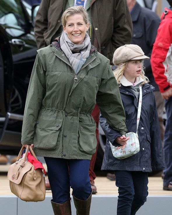 Sophie has always shown affection towards her children in public