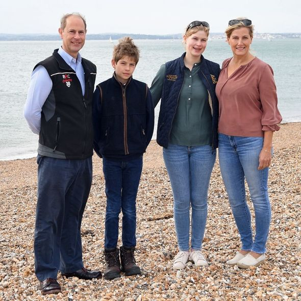 The family were last all seen out together back in September